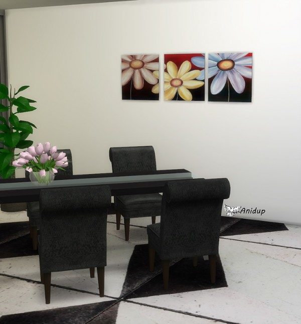 Blooming Rosy: Black and White Paintings 3