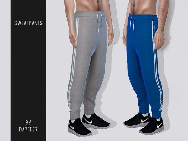 The Sims Resource: Athletic Sweatpants by Darte77