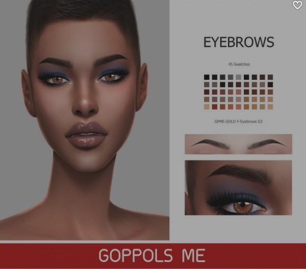 GOPPOLS Me: F Eyebrows G3
