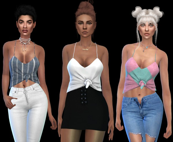 Leo 4 Sims: Tia top 2 recolored