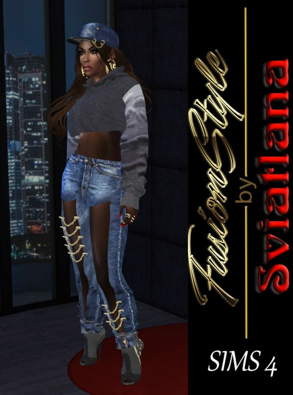 Fusion Style: Grunge style for sim girl by Sviatlana
