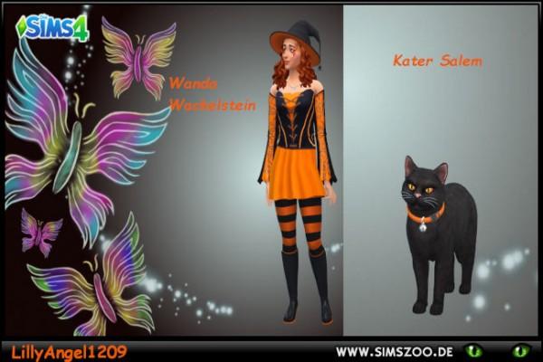 Blackys Sims 4 Zoo: Wanda and Salem by LillyAngel1209