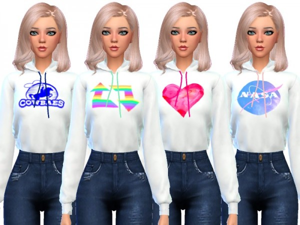 The Sims Resource: Tumblr Themed Hoodies by Wicked Kittie