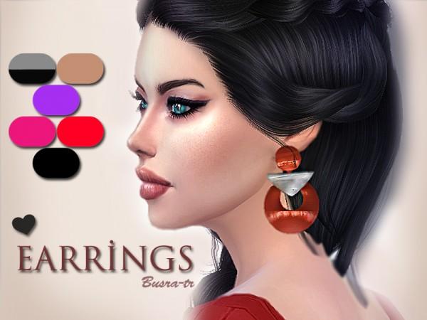 The Sims Resource: Zara EarringX by busra tr