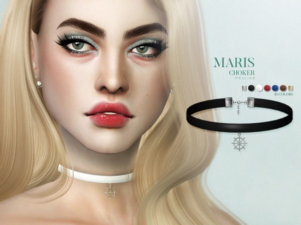 The Sims Resource: Maris Choker by Pralinesims