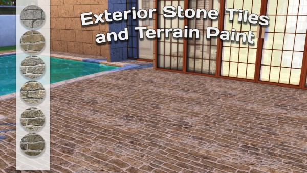 Simming With Mary: Ceramic Tiles, Exterior Stone Tiles and Stone Terrain paint