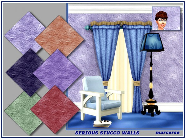 The Sims Resource: Serious Stucco Walls marcorse