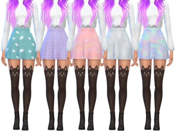 The Sims Resource: Cute Skater Skirts by Wicked Kittie