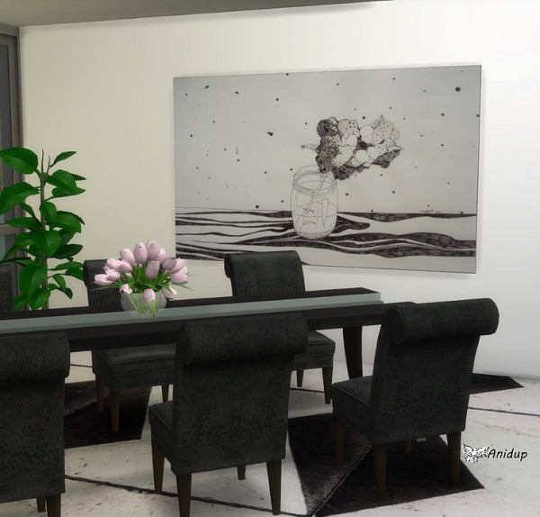 Blooming Rosy: Black and White Paintings 5