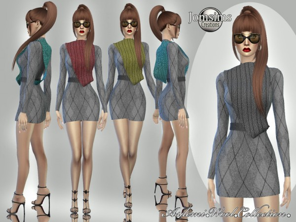 The Sims Resource: Asdemi wool dress 4 by jomsims