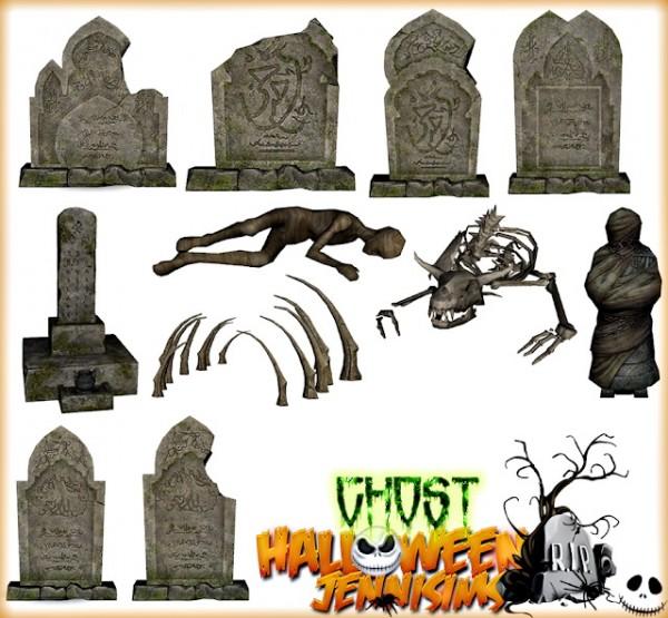Jenni Sims: Gothic Grave stones, bones, mummies