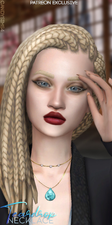 Candy Sims 4: Teardrop Necklace