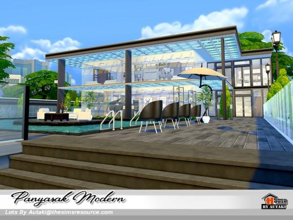 The Sims Resource: Panyasak Modern house by Autaki