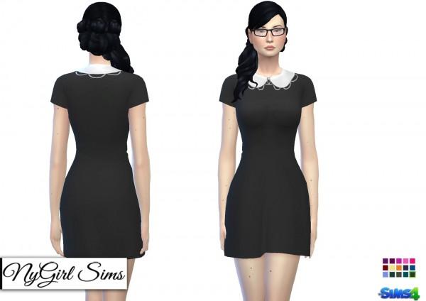 NY Girl Sims: Embellished Peter Pan Collar Dress
