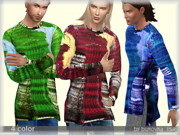 The Sims Resource: Elongated Sweater by bukovka