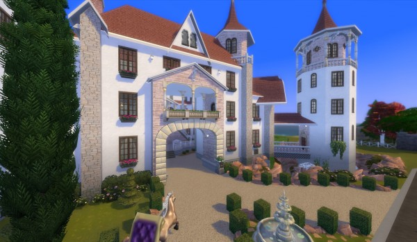 Mod The Sims: Castle Dragonbreeze (NO CC) by wouterfan