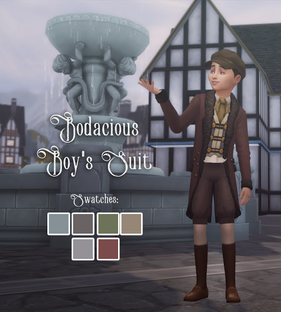 History Lovers Sims Blog: Bodacious Boy`s Suit