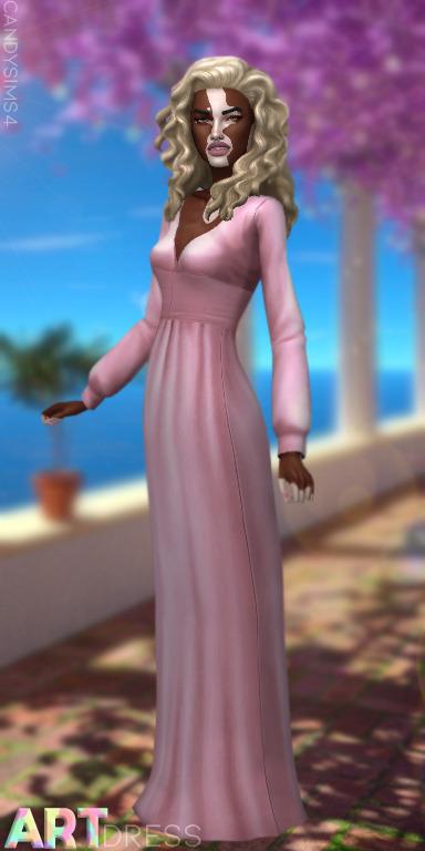 Candy Sims 4: Art Dress