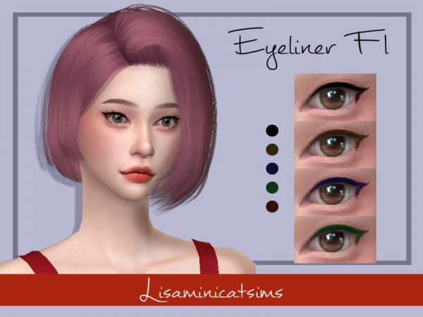 The Sims Resource: Eyeliner F1 by Lisaminicatsims