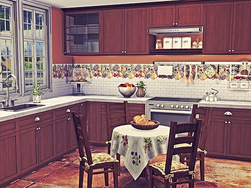 Blooming Rosy: Fruity Kitchen Walls