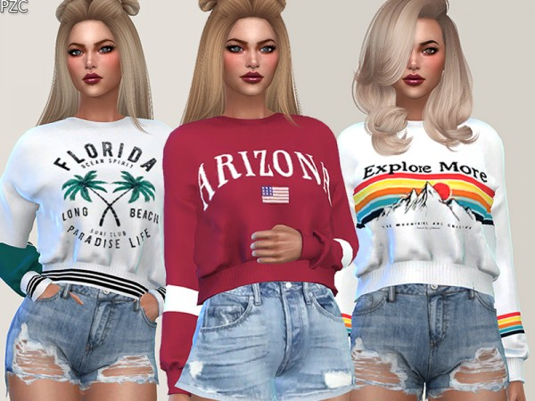 The Sims Resource: Sweatshirts Collection 015 Breeze by Pinkzombiecupcakes