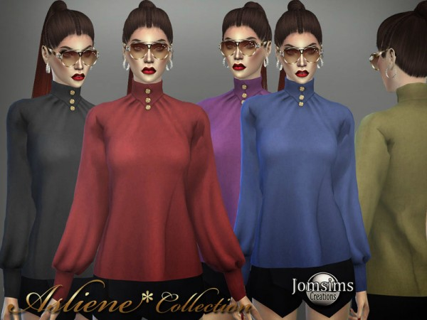 The Sims Resource: Asliene blouse 2 by jomsims