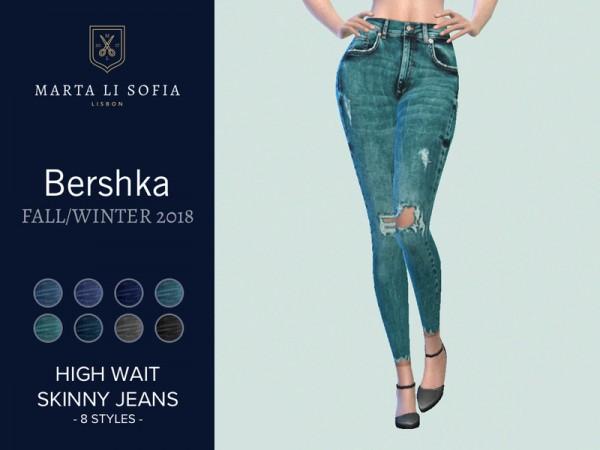 The Sims Resource: High waist skinny jeans by martalisofia
