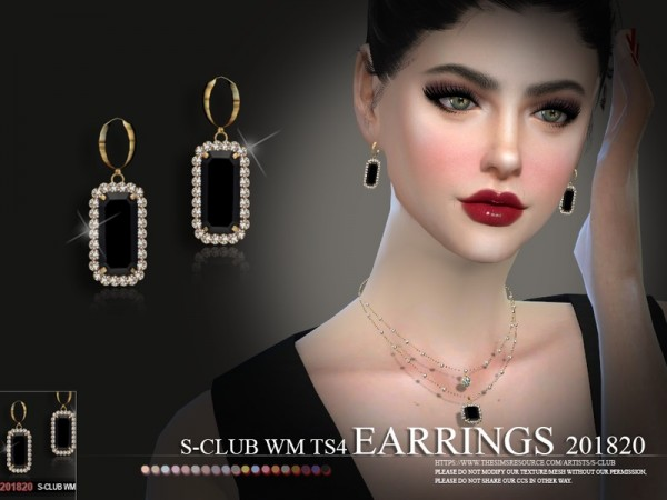 The Sims Resource: Earrings F 201820 by S Club