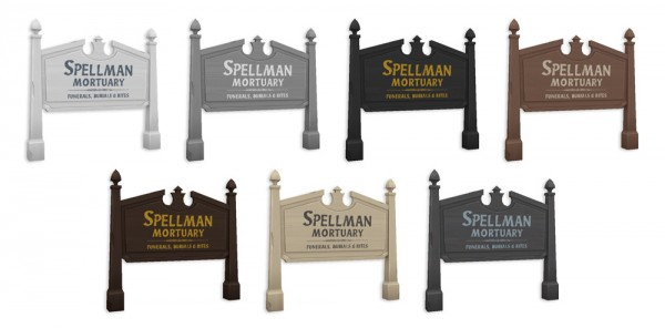 Simplistic: Spellman Mortuary Sign