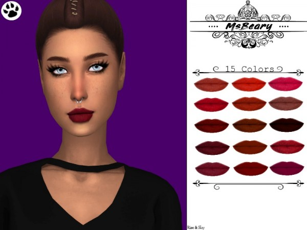 The Sims Resource: Diva Lipstick Collection by MsBeary