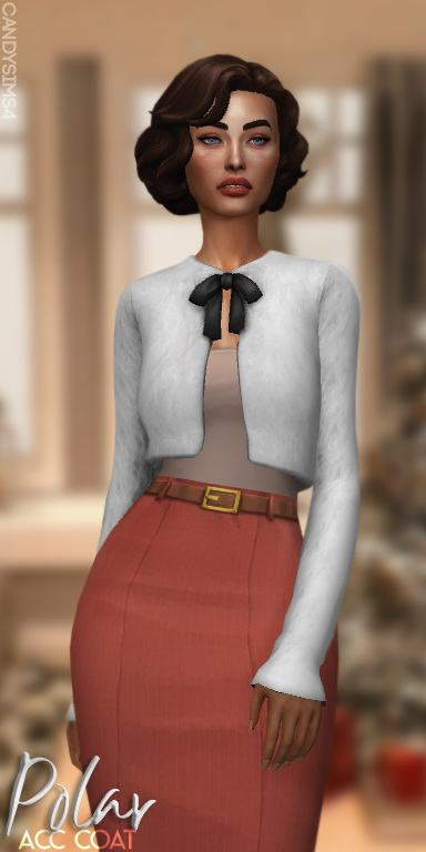 Candy Sims 4: Polar Acc Coat