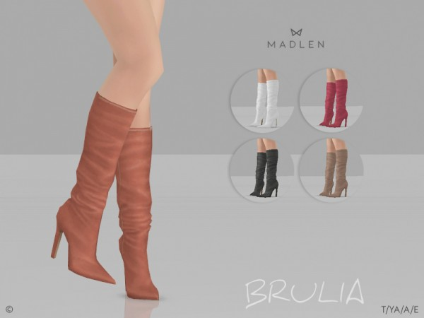 The Sims Resource: Madlen Brulia Boots by MJ95
