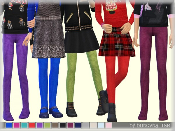 The Sims Resource: Knitted Tights by bukovka