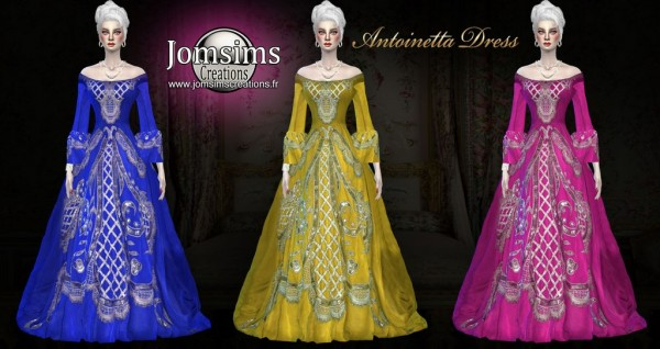 Jom Sims Creations: Antoinetta Dress