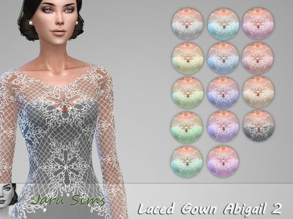 The Sims Resource: Laced Gown Abigail 2 by Jaru Sims