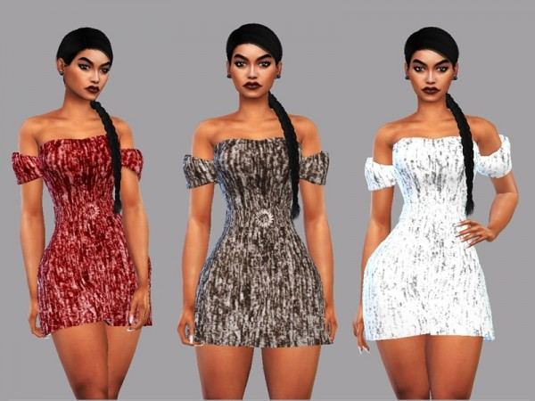 The Sims Resource: Mini Dress Poliana by LYLLYAN