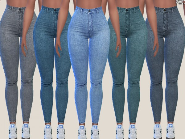 The Sims Resource: Denim Skinny Jeans 015 by Pinkzombiecupcakes