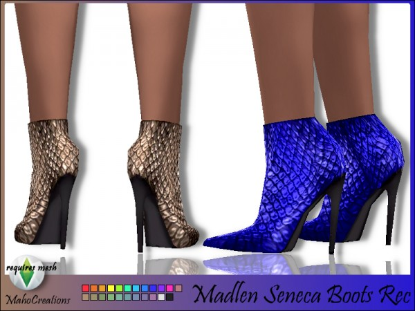 The Sims Resource: Madlen`s Seneca Boots Recolored by MahoCreations
