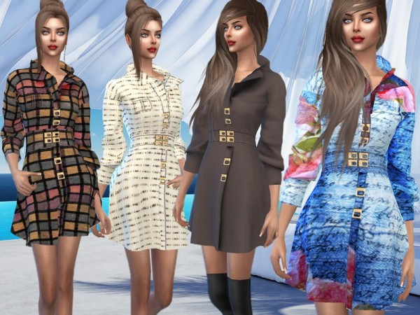 The Sims Resource: Dress Autumn by Sims House