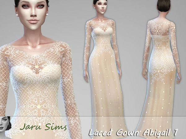The Sims Resource: Laced Gown Abigail 1 by Jaru Sims