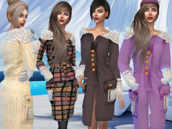The Sims Resource: Winter coat with a collar by Sims House