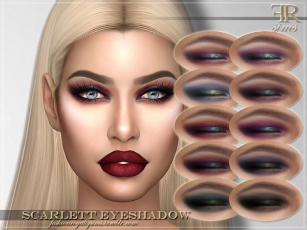 The Sims Resource: Scarlett Eyeshadow by FashionRoyaltySims