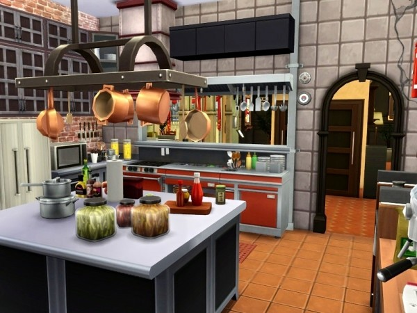 The Sims Resource: Pizzeria Casa Mario by casmar