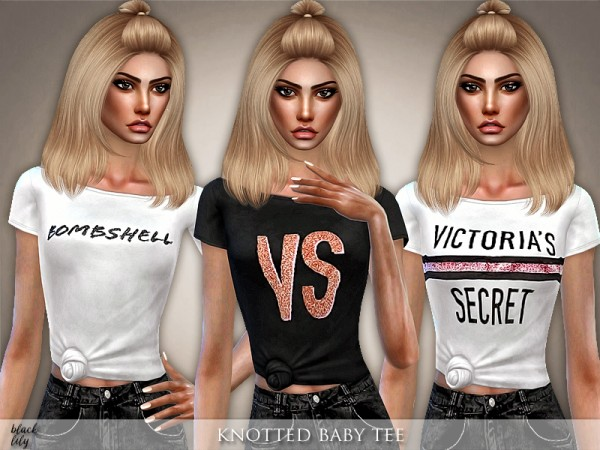 The Sims Resource: Knotted Baby Tee by Black Lily