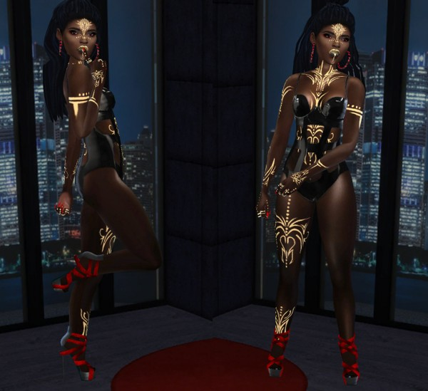 Fusion Style: Gold Tattoo and Shoes