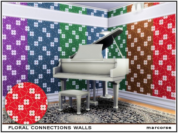 The Sims Resource: Floral Connections Walls by marcorse