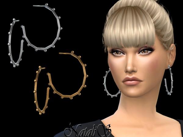 The Sims Resource: Multi balls hoop earrings by NataliS
