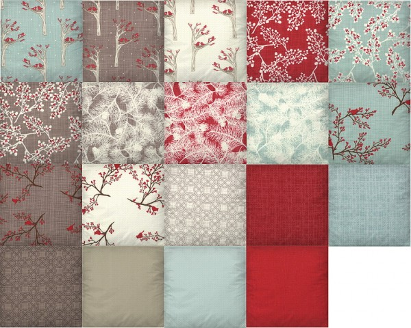 Blooming Rosy: Pillows Winters Lane recolor