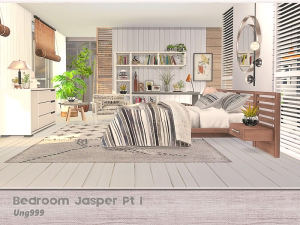 The Sims Resource: Bedroom Jasper Pt 1 by ung999