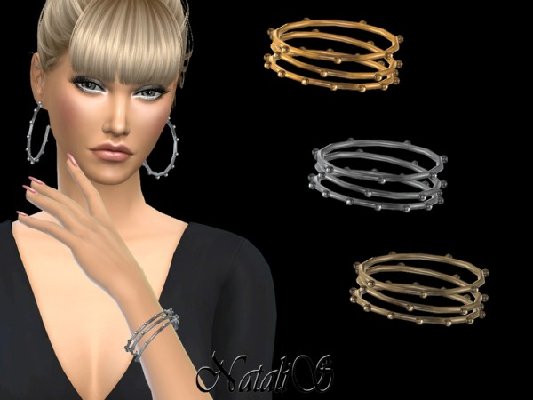 The Sims Resource: Multi balls hoop bracelets by NataliS
